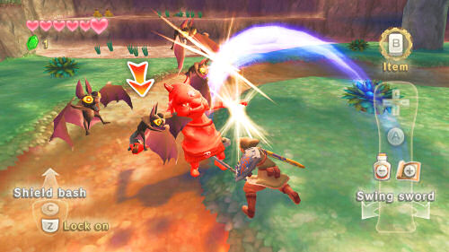 Skyward Sword Fighting Enemies