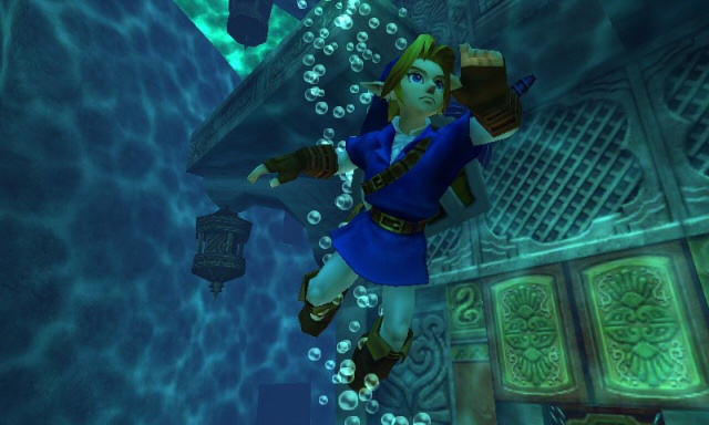 Ocarina of Time 3d Adult Link Swimming