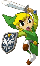 Link Performing the Jump Attack in Spirit Tracks