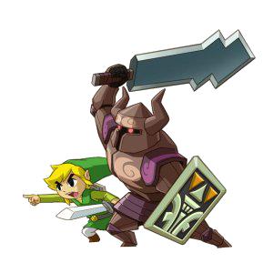Link and Zelda Spirit Tracks Official Artwork