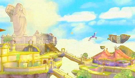 The floating land of Skyloft