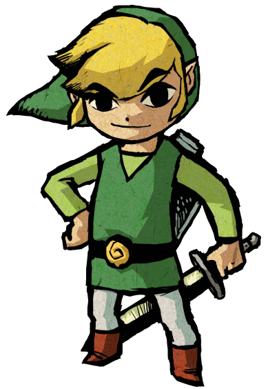 The Wind Waker Link Official Art