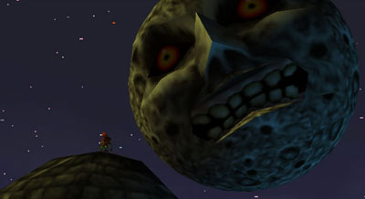 The moon looms over Termina