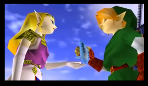Zelda sends Link back in time, creating a parallel reality