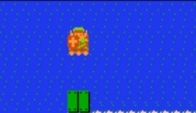 Link Riding a Raft in The Legend of Zelda