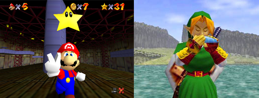 Ocarina of Time and Super Mario 64