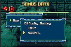 Metroid Difficulty Setting