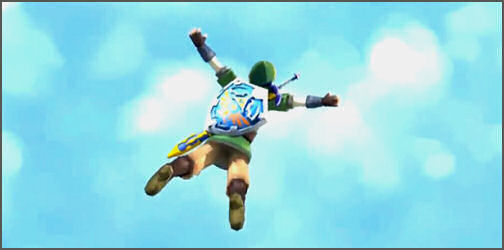 Link Falling through the Sky