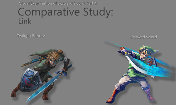 Skyward Sword Graphical Comparison of Link