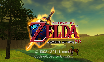 Ocarina of Time 3D Title Screen