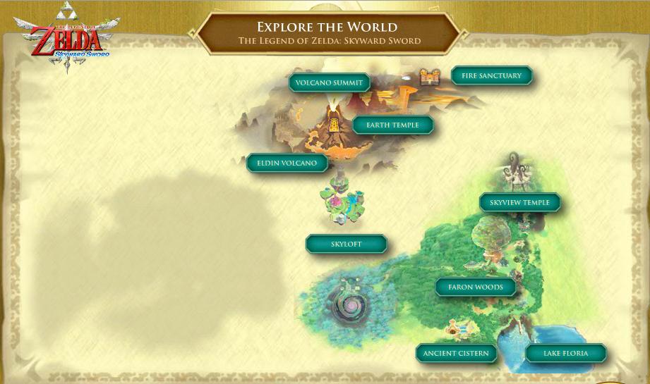 skyward sword world map Skyward Sword English Site Updates World Map New Screenshots