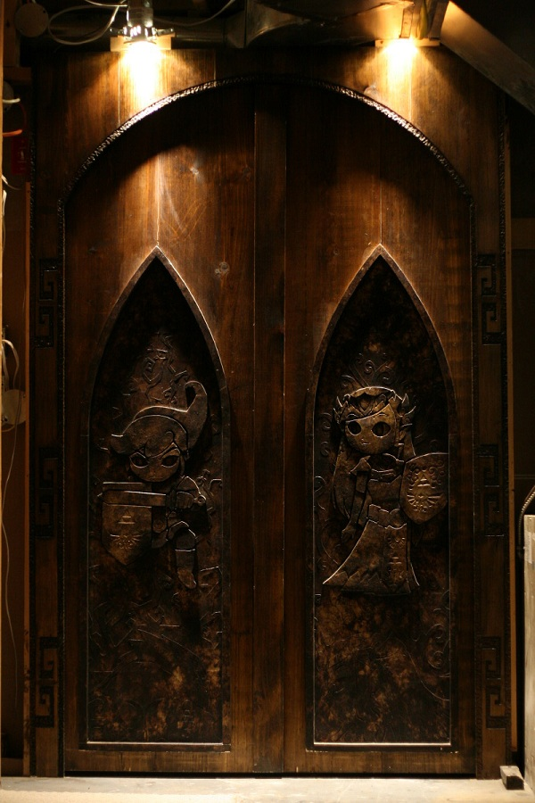 Last night Bre and I were discussing the awesomeness that is these doors and we decided that if I were to make these they would follow me wherever I go. & One Fan Customized Their Doors For Their Home Theater \u2013 Zelda ...