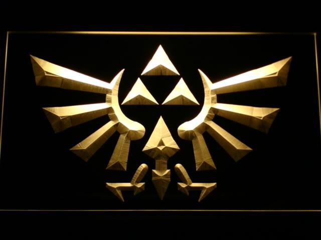 The Legend of Zelda Triforce Neon Light Sign