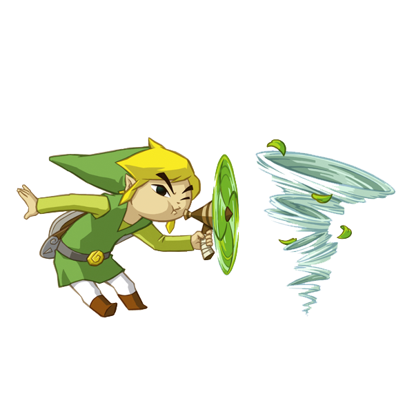 Link Official Art from Spirit Tracks