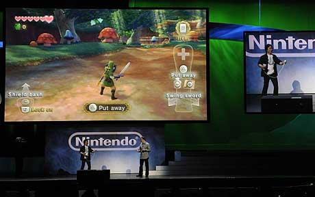 Miyamoto Playing Skyward Sword