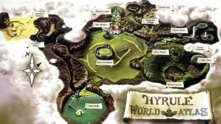 Ocarina of Time Hyrule Map