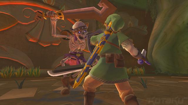 Link Fight a Stalfos in Skyward Sword