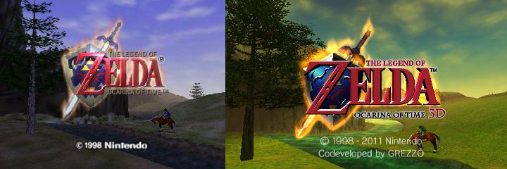 Ocarina of Time Title Screen Comparison