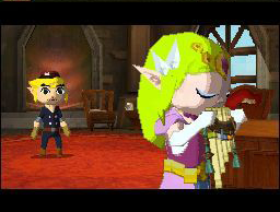 Zelda Playing Pan Flute