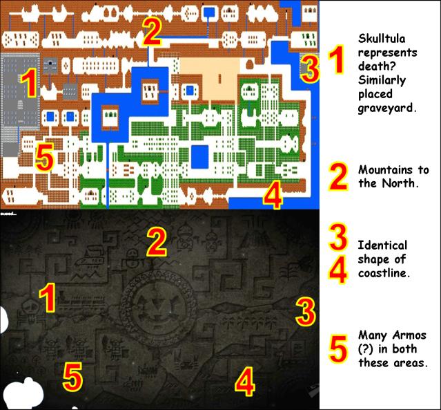 Spirit Tracks Geography Comparison 1