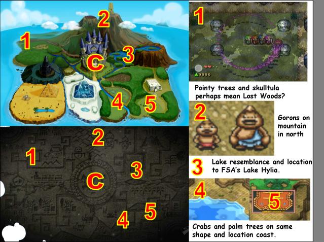 Spirit Tracks Geography Comparison 2