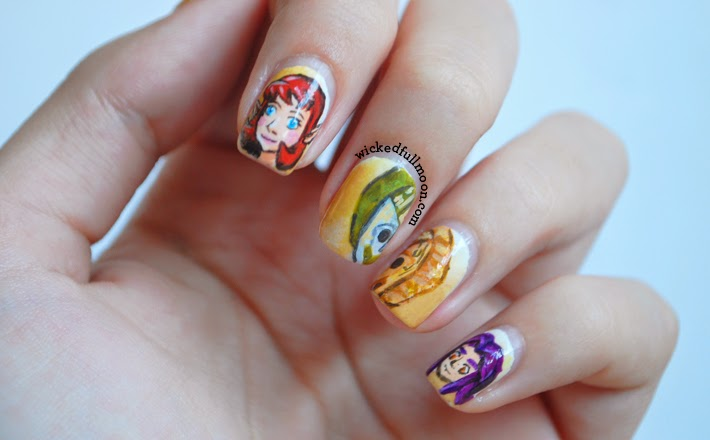 Amazing majoras mask nail art zelda dungeon graphic designer and avid gamer laura fullmoon is a blogger famous for her nail art you can see some of her prinsesfo Images