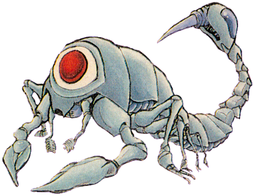 Skettlar Artwork from Futabasha Guide for Zelda II: The Adventure of Link.