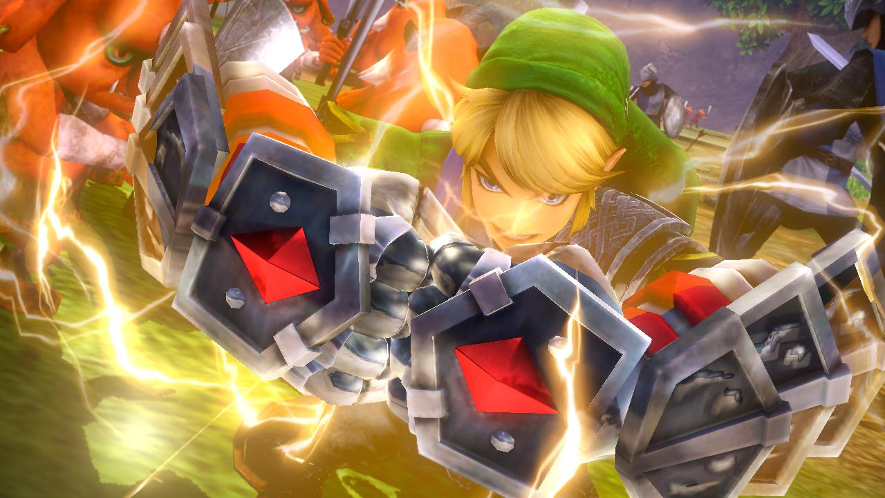 Hyrule Warriors Screenshot Link Power Gloves Silver Gauntlets