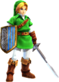Hyrule Warriors Artwork Link Ocarina of Time Costume.png