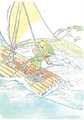 Hyrule-Historia-Concept-Link-on-Raft.png