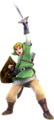 Hyrule Warriors Artwork Link Skyward Sword Costume.png