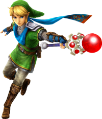 Hyrule Warriors Artwork Link Magic Rod.png