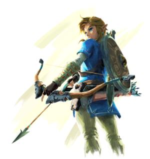 Link readying an arrow