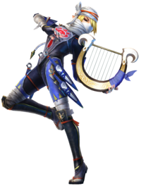 Hyrule Warriors Artwork Sheik Harp.png