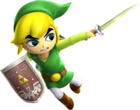 Hyrule Warriors Artwork Toon Link Light Sword.png