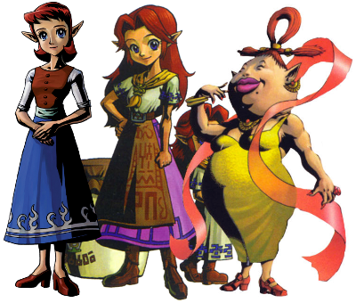 Anju, Cremia, Romani, and Madame Aroma