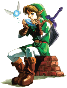 Adult Link with Ocarina