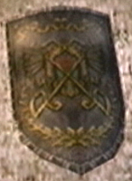 A shield found in Snowpeak Mansion from Twilight Princess
