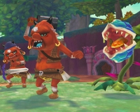 Two Bokoblins and a Deku Baba from Skyward Sword, the evil force that rules Hyrule?