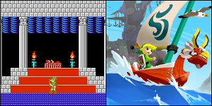 Zelda 2: Adventure of Link and The Legend of Zelda: The Wind Waker, commonly identified as the hardest and easiest games in the series, respectively