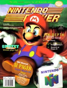 Mario 64 Nintendo Power Cover