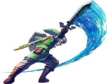 Link swings his sword, utilizing the power of Wii Motion Plus