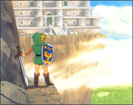 Link at the Tower of Hera
