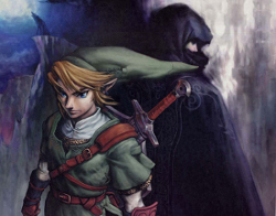 Promotional artwork, showing the artstyle and tone of Twilight Princess
