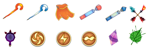 These items use up power from the magic meter.