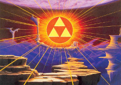The Triforce in the Golden Land, sought by the Dark Tribe