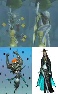 The new character and his teleport compared with Midna and hers