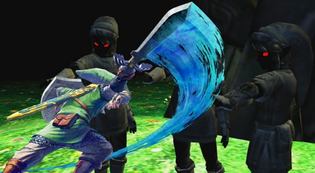 Link battles the power of the Dark Tribe
