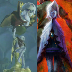 Left side is the new character, right side is the original artwork of the Skyward Sword