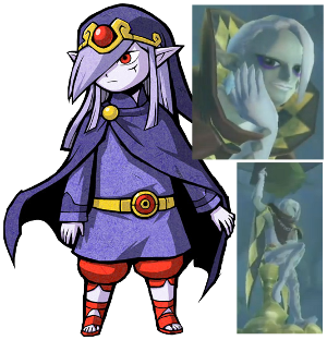 Vaati's appearance in The Minish Cap on the left, compared with the new character on the right